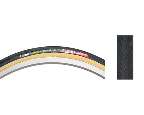 Vittoria Juniores Tubular Tire (Black/Tan)
