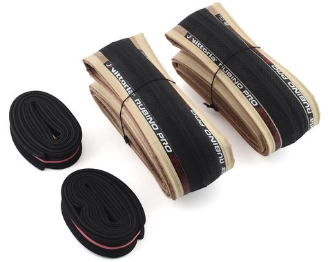 Vittoria Rubino Pro Twin Pack (Tanwall) (w/ 2 48mm Presta Tubes) (700c) (28mm)