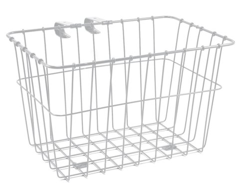 Wald 135 Bolt-On Front Bike Grocery Basket (White)