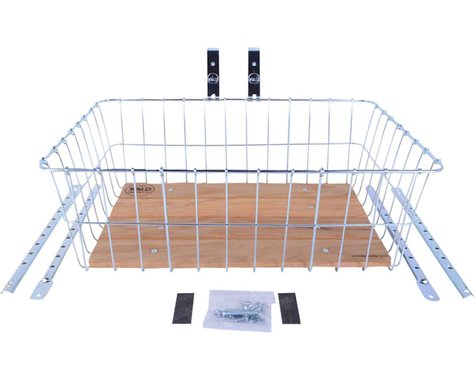 Wald 1392 Front Basket w/ Adjustable Legs (Silver) (Wood Slats)