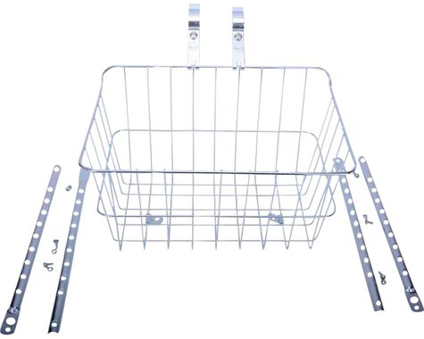 Wald 1512 Front Basket with Adjustable Legs, Silver