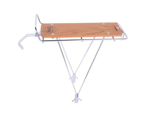 Wald 215 Rear Rack w/ Wood Slat (Silver)