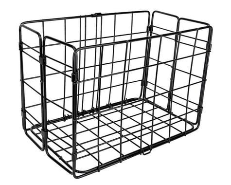 Wald Side-Mount Folding Rear Basket (12.75x7.25x8.5) (Black)