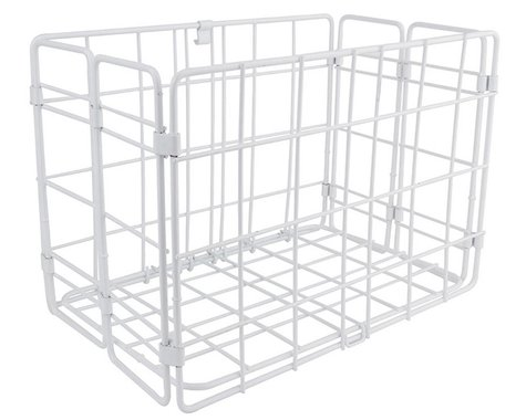 Wald Side-Mount Folding Rear Basket (White)