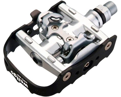 "Wellgo WPD-95B Pedals - Single Side Clipless with Platform, Aluminum, 9/16"", Bla"