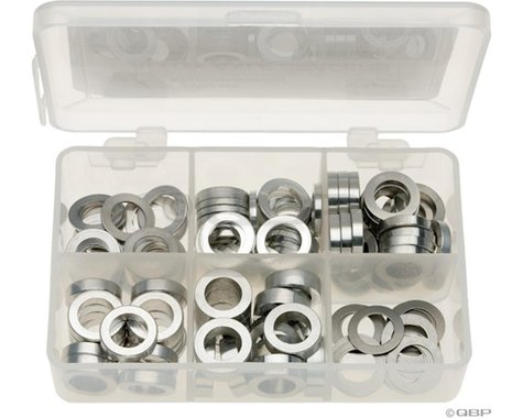 Wheels Manufacturing Kit of six assorted sizes (.5 to 5mm),  125 Spacers in stor