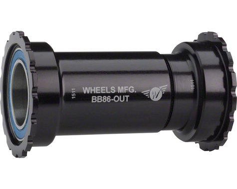 Wheels Manufacturing Outboard Bottom Bracket (Black) (BB86/92)