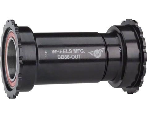 Wheels Manufacturing BB86/92 SRAM Bottom Bracket (Threaded) (Black Cups)