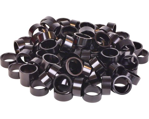 "Wheels Manufacturing Bulk Headset Spacers 1-1/8"" x 15mm Black, Bag of 100"