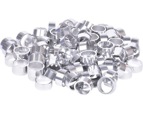 "Wheels Manufacturing Bulk Headset Spacers (Silver) (1-1/8"") (Bag of 100) (15mm)"