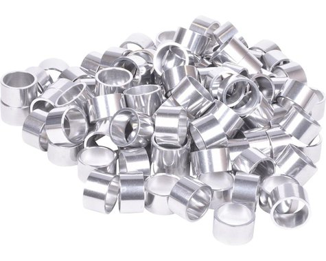 "Wheels Manufacturing Bulk Headset Spacers 1-1/8"" x 20mm Silver, Bag of 100"