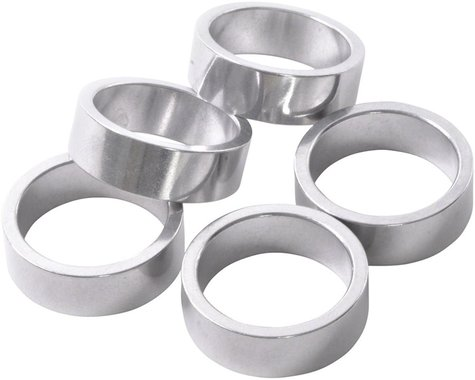 "Wheels Manufacturing 1"" Headset Spacer (Silver) (5) (10mm)"