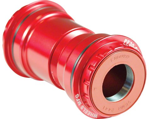 Wheels Manufacturing PF30 Bottom Bracket (Red) (22/24mm Spindle)