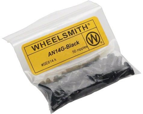Wheelsmith 2.0 x 12mm Black Alloy Nipples, Bag of 50