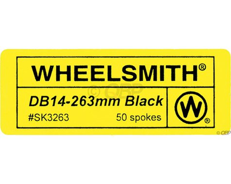 Wheelsmith DB14 Spokes 2.0/1.7 x 292mm Black, Bag of 50