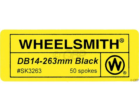 Wheelsmith DB14 Spokes 2.0/1.7 x 296mm Black, Bag of 50