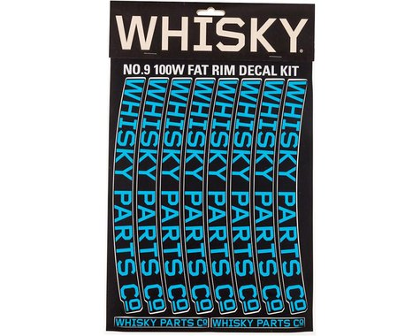 Whisky Parts Whisky 100w Rim Decal Kit for 2 Rims Cyan