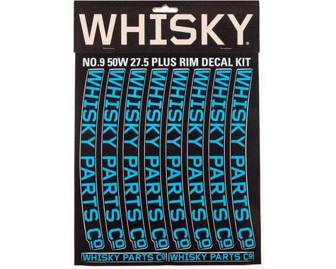Whisky Parts Whisky 50w Rim Decal Kit for 2 Rims Cyan