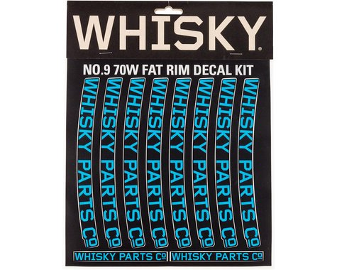 Whisky Parts Whisky 70w Rim Decal Kit for 2 Rims Cyan