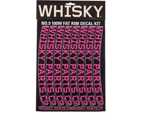 Whisky Parts Whisky 100w Rim Decal Kit for 2 Rims Magenta