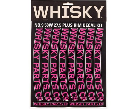 Whisky Parts 50w Rim Decal Kit for 2 Rims Magenta