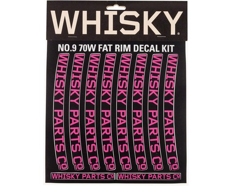 Whisky Parts Whisky 70w Rim Decal Kit for 2 Rims Magenta
