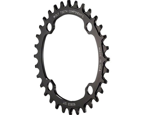 Wolf Tooth Components Drop-Stop Chainring (102BCD) (Offset N/A) (34T)