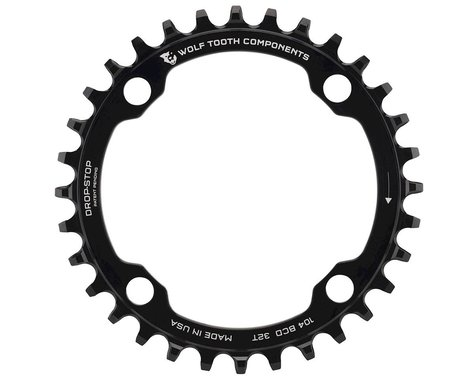 Wolf Tooth Components Drop-Stop Chainring (Black) (104 BCD) (Offset N/A) (32T)