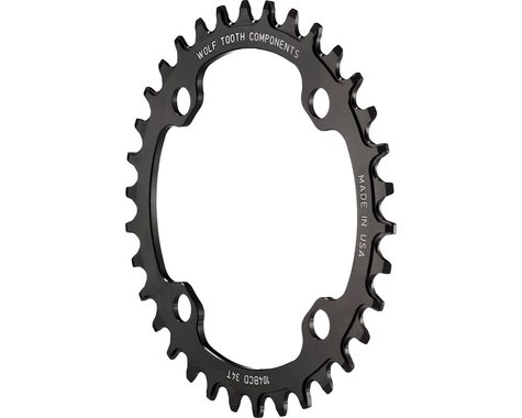 Wolf Tooth Components Drop-Stop Chainring (Black) (104 BCD) (Offset N/A) (38T)