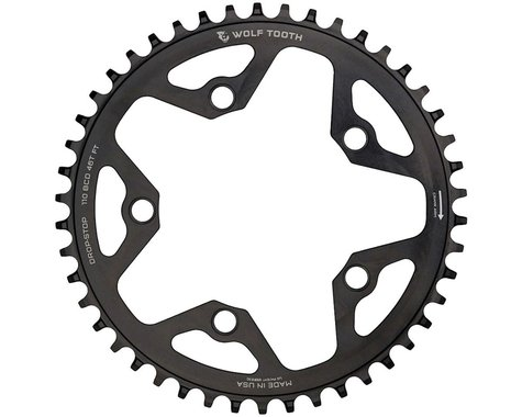 Wolf Tooth Components CX/Road Chainring (Black) (110mm BCD) (36T)