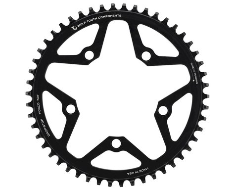 Wolf Tooth Components Drop-Stop Chainring (Black) (110mm BCD) (50T)