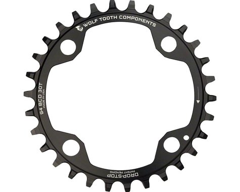 Wolf Tooth Components 4-Bolt Drop-Stop Chainring (Black) (94mm BCD) (30T)