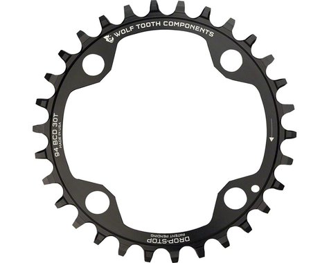 Wolf Tooth Components 4-Bolt Drop-Stop Chainring (Black) (94mm BCD) (32T)