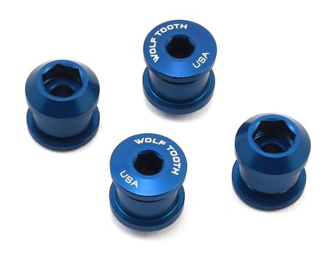 Wolf Tooth Components Dual Hex Fitting Chainring Bolts (Blue) (6mm) (4)