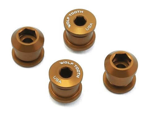 Wolf Tooth Components Dual Hex Fitting Chainring Bolts (Gold) (6mm) (4ct)