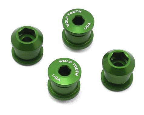 Wolf Tooth Components Dual Hex Fitting Chainring Bolts (Green) (6mm) (4)