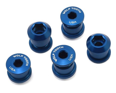 Wolf Tooth Components Dual Hex Fitting Chainring Bolts (Blue) (6mm) (5pk)