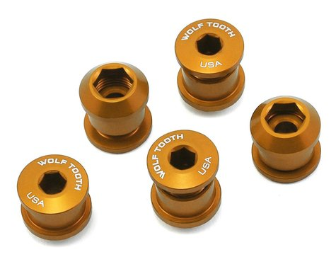 Wolf Tooth Components Dual Hex Fitting Chainring Bolts (Gold) (6mm) (5ct)