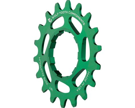 Wolf Tooth Components Single Speed Aluminum Cog (Green) (18T)