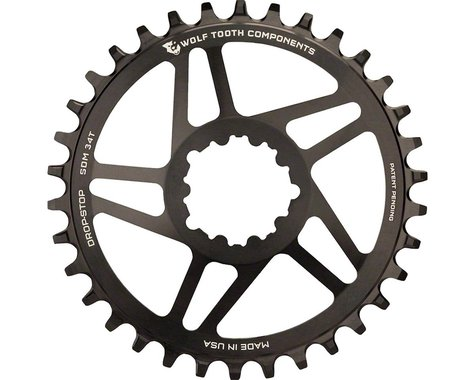 Wolf Tooth Components Direct Mount GXP Drop-Stop Chainring (Black) (30T)