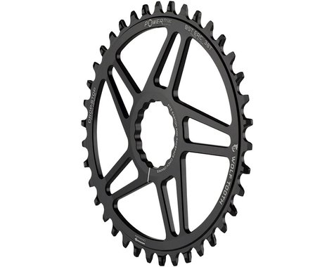 Wolf Tooth Components Easton Direct Mount Oval Drop-Stop Chainring (Black) (38T)
