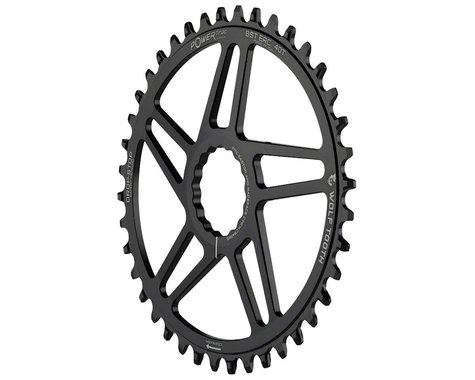Wolf Tooth Components Easton Direct Mount Oval Drop-Stop Chainring (Black) (3mm Offset (Boost)) (40T)