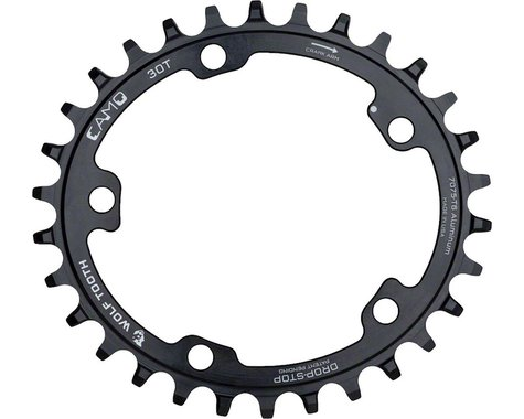 Wolf Tooth Components CAMO Al PowerTrac Chainring (Black) (30T)