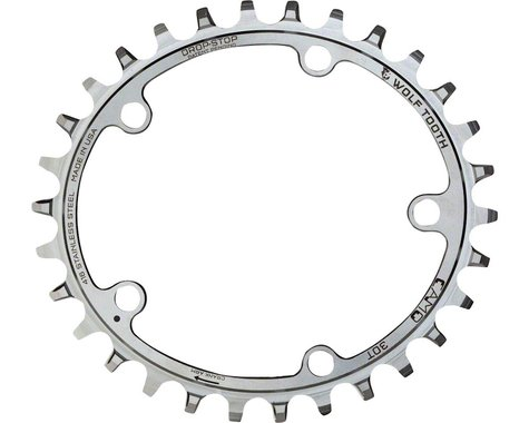Wolf Tooth Components CAMO Stainless PowerTrac Chainring (Silver) (32T)