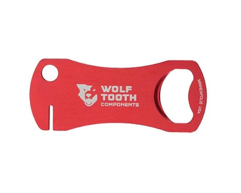 Wolf Tooth Components Tooth Bottle Opener & Rotor Tool (Red)