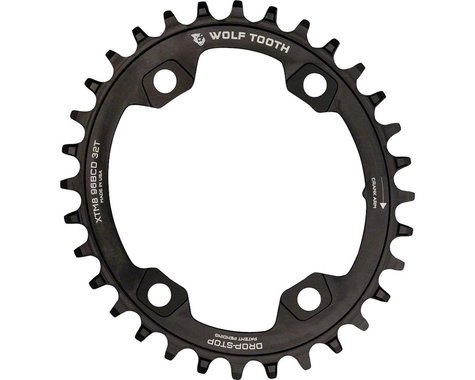 Wolf Tooth Components PowerTrac Drop-Stop Chainring (Black) (96mm Asym BCD) (30T)