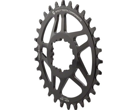Wolf Tooth Components Powertrac Elliptical Direct Mount Sram Chainring (Black) (0mm Offset) (28T)