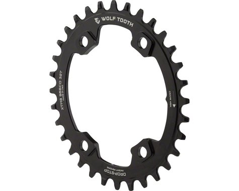 Wolf Tooth Components PowerTrac Elliptical Chainring (Black) (96mm Asym BCD) (Offset N/A) (32T)