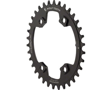 Wolf Tooth Components PowerTrac Elliptical Chainring (Black) (96mm Asym BCD) (34T)