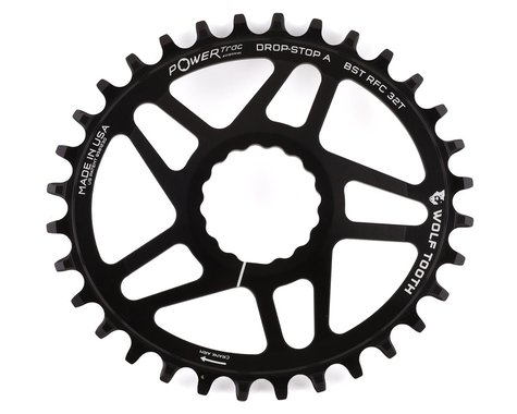 Wolf Tooth Components PowerTrac Drop-Stop Cinch Direct Mount Chainring (Black) (Boost) (32T)